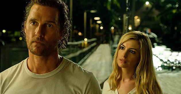 Matthew McConaughey e Anne Hathaway no primeiro trailer do thriller