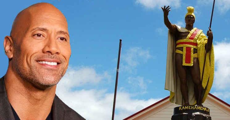 Dwayne Johnson vai dar vida ao lendário rei havaiano Kamehameha no filme