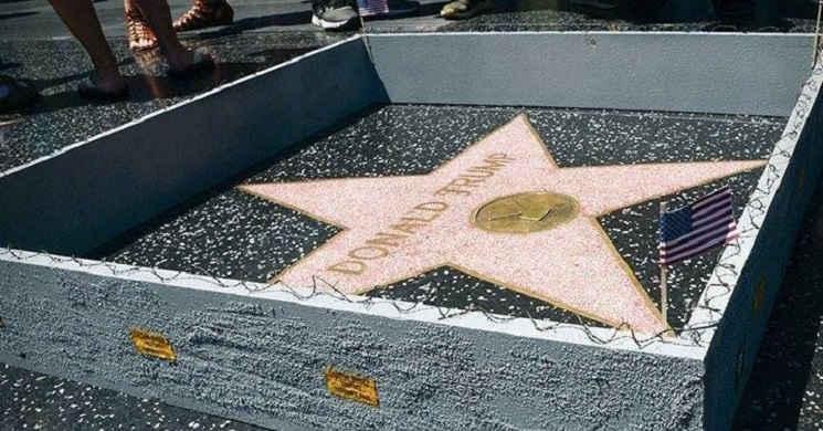 Aprovada uma resolução para remover a estrela de Donald Trump na Calçada da Fama