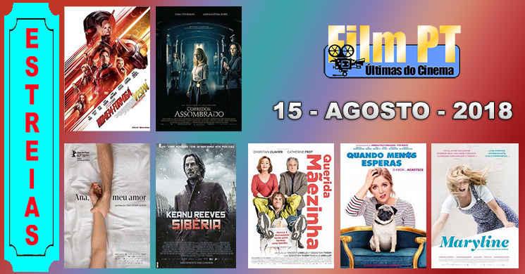 Estreias de filmes nos cinemas portugueses: 15 de agosto de 2018