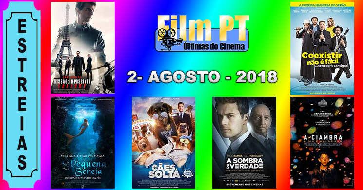 Estreias de filmes nos cinemas portugueses: 2 de agosto de 2018