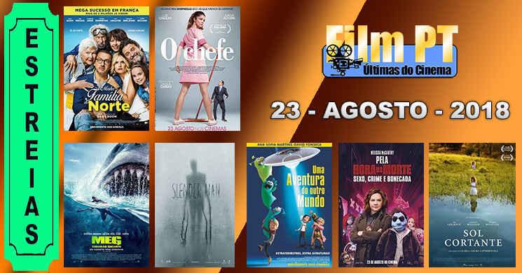 Estreias de filmes em Portugal a 23 de agosto de 2018