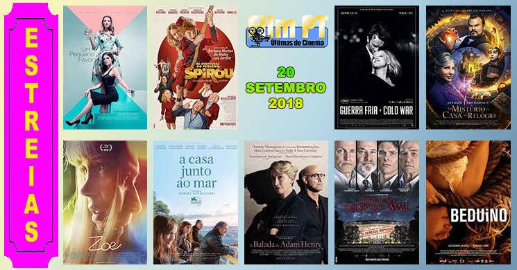 Estreias de filmes nos cinemas portugueses: 20 de setembro de 2018