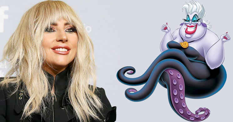 Rumor: Disney pretende Lady Gaga para interpretar Ursula no live-action de
