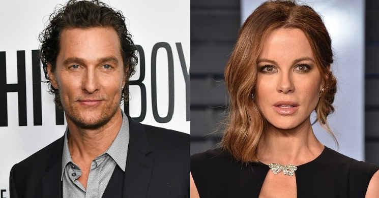 Matthew McConaughey e Kate Beckinsale serão os protagonistas do drama criminal Toff Guys