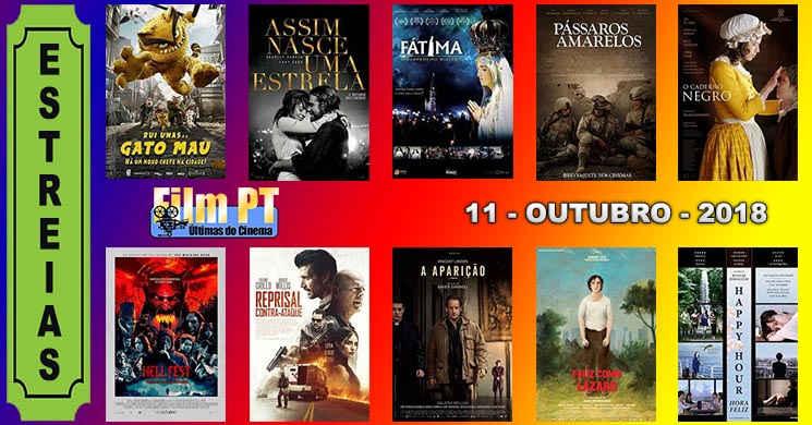 Estreias de filmes nos cinemas portugueses: 11 de Outubro de 2018