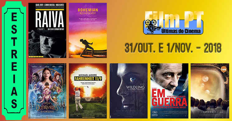 Estreias de filmes nos cinemas portugueses: 31 de outubro e 1 de novembro de 2018