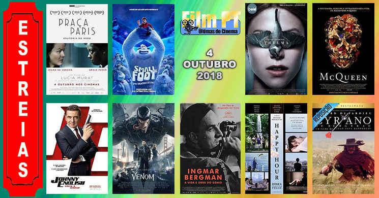 Estreias de filmes nos cinemas portugueses: 4 de Outubro de 2018