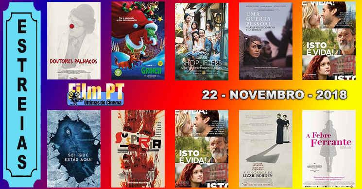 Estreias de filmes nos cinemas portugueses: 22 de Novembro de 2018