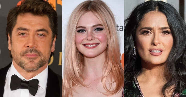 Javier Bardem, Elle Fanning e Salma Hayek no elenco do filme de Sally Potter