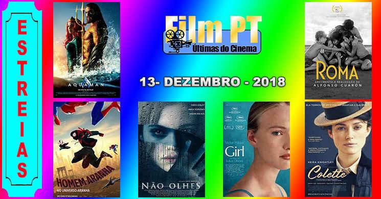 Estreias de filmes em Portugal: 13 de dezembro de 2018