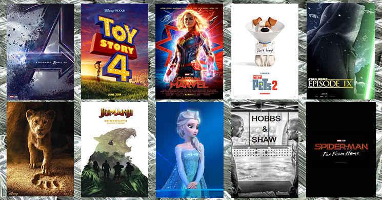 Dez filmes que vão provavelmente ter as maiores receitas nas bilheteiras mundiais em 2019