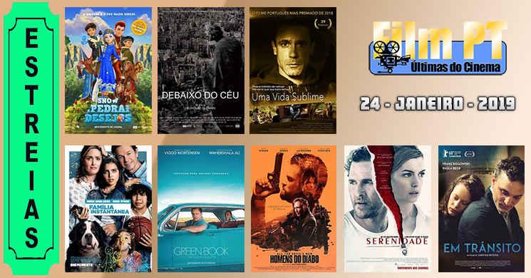 Estreias de filmes em Portugal: 24 de janeiro de 2019