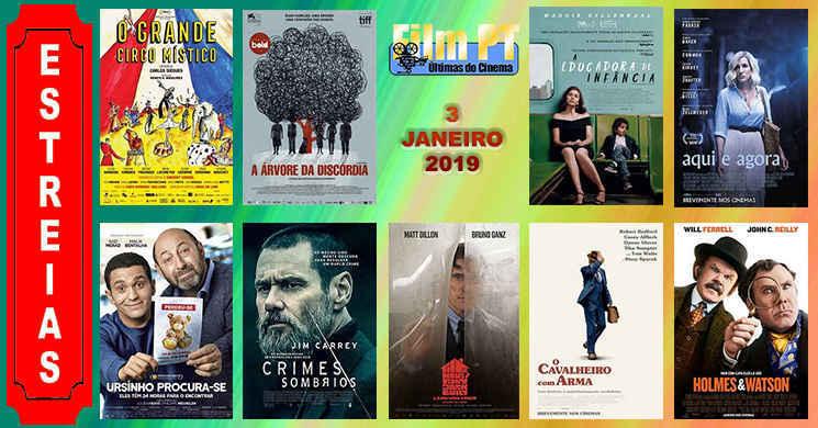 Estreias de filmes nos cinemas portugueses: 3 de janeiro de 2019