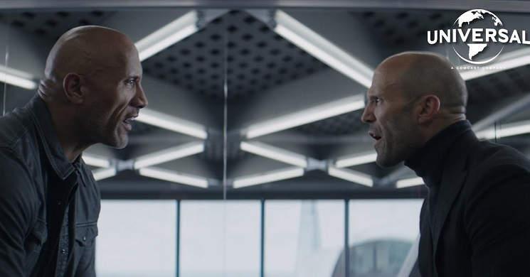Dwayne Johnson e Jason Statham em ação no trailer português de