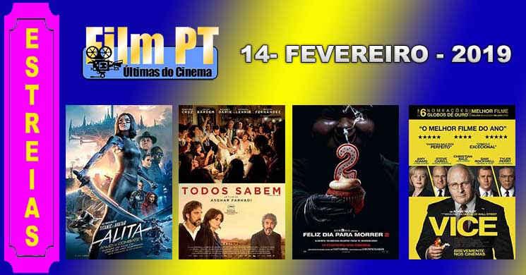 Estreias de filmes nos cinemas portugueses: 14 de fevereiro de 2019