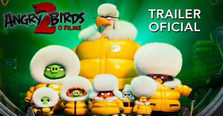 Pássaros e Porcos unidos no trailer português da animação