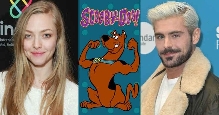 Zac Efron e Amanda Seyfried no filme Scoob