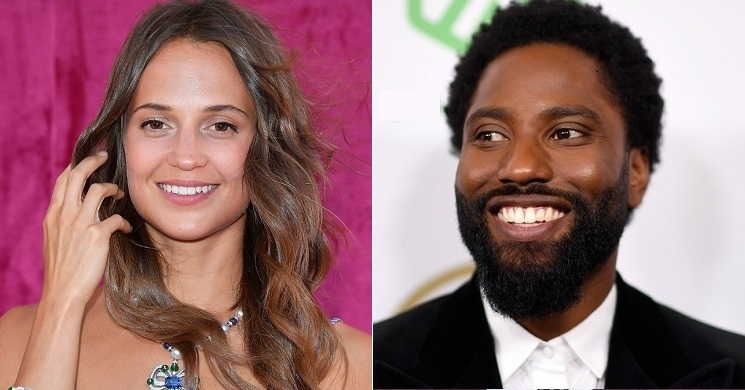 Alicia Vikander e John David Washington no filme Born To Be Murdered
