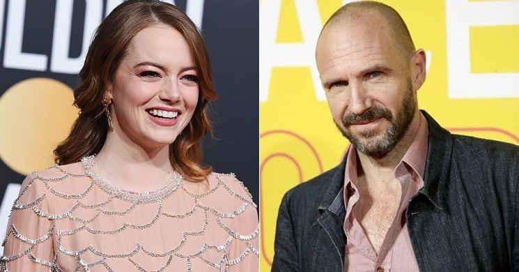Emma Stone e Ralph Fiennes no elenco do filme The Menu