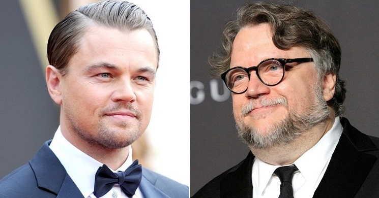 Leonardo DiCaprio e Guillermo del Toro no filme Nightmare Alley