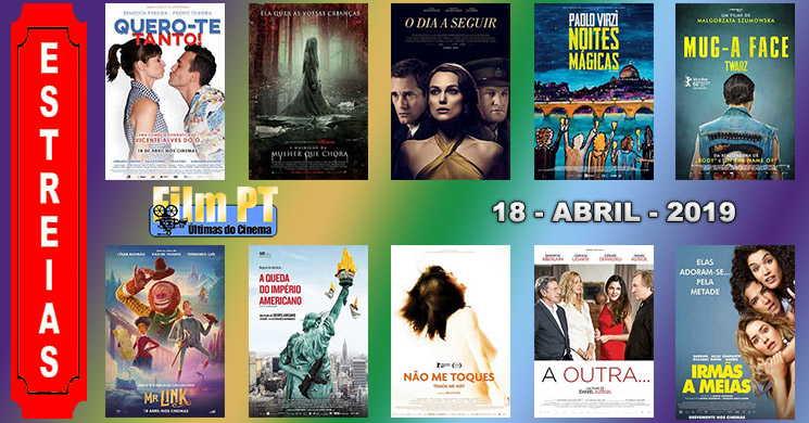 Estreias de filmes nos cinemas portugueses: 18 de abril de 2019