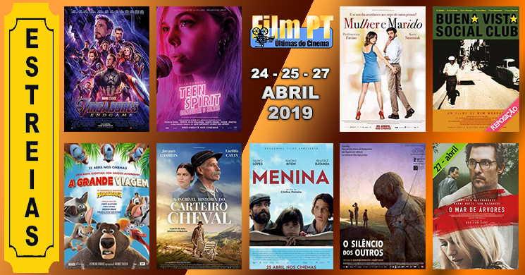 Estreias de filmes nos cinemas portugueses: 24, 25 e 27 de abril de 2019