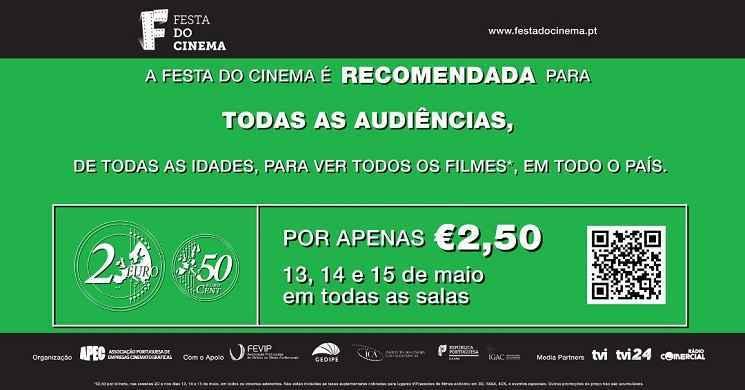 Está a chegar mais uma edição da Festa do Cinema com bilhetes a 2,50€