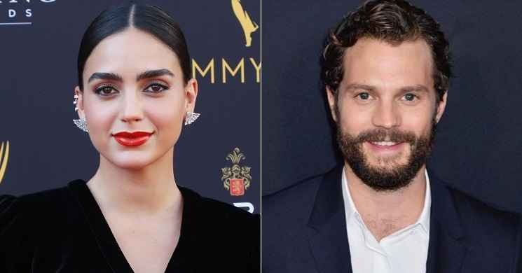 Melissa Barrera e Jamie Dornan no elenco do musical Carmen