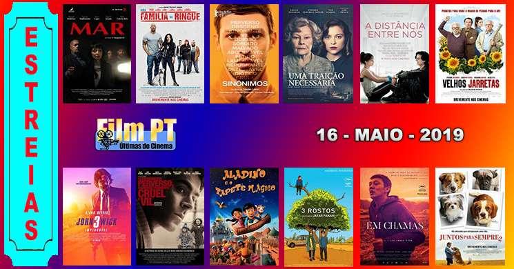 Estreias de filmes nos cinemas portugueses: 16 de maio de 2019