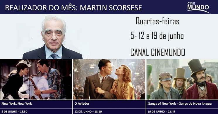Realizador do Mês: 3 filmes de Martin Scorsese para ver no Canal Cinemundo