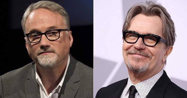 David Fincher e GaryOldman no filme Mank