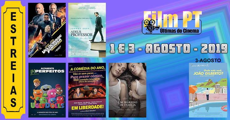 Estreias de filmes nos cinemas portugueses: 1 e 3 de agosto de 2019