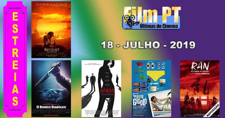 Estreias de filmes nos cinemas portugueses: 18 de julho de 2019
