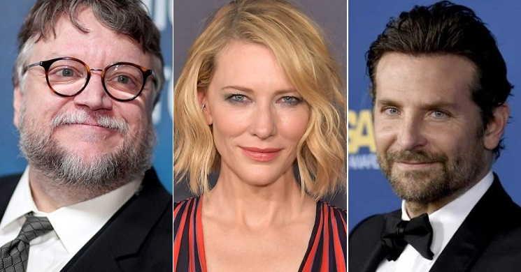 Cate Blanchett Bradley Coopere Guillermo del Toro no filme Nightmare Alley