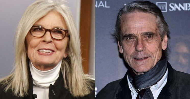 Diane Keaton e Jeremy Irons serão os protagonistas de