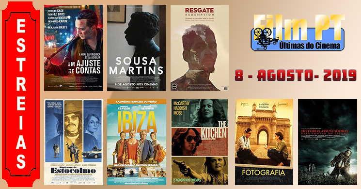 Estreias de filmes em Portugal: 8 de agosto de 2019