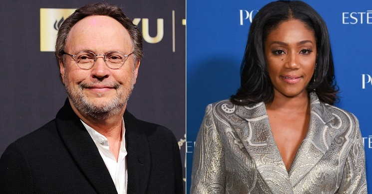 Billy Crystal e Tiffany Haddish no filme Here Today