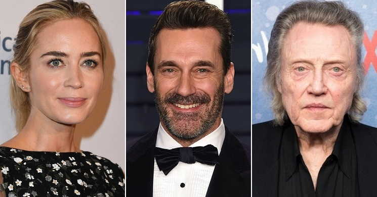 Emily Blunt, Jon Hamm e Christopher Walken no elenco do drama romântico