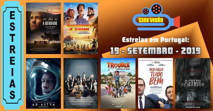 Estreias de filmes nos cinemas portugueses: 19 de setembro de 2019