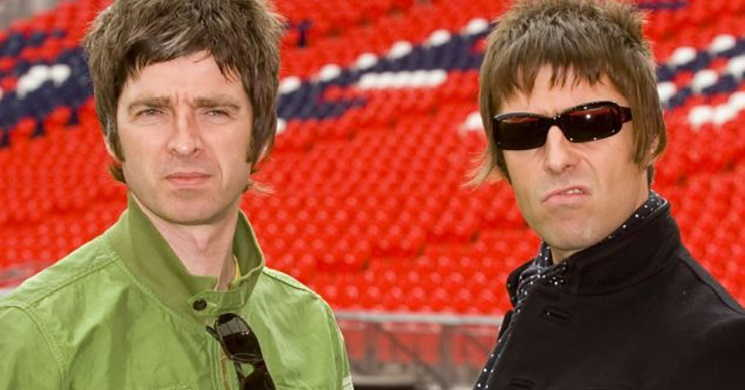 Os irmãos Gallagher da banda Oasis