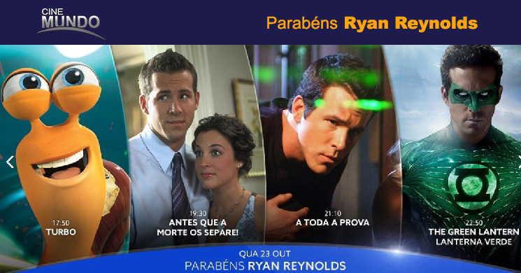 Celebre o aniversário de Ryan Reynolds e assista a quatro filmes no Canal Cinemundo