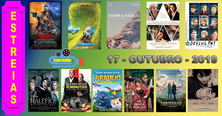 Estreias de filmes nos cinemas portugueses: 17 de outubro de 2019