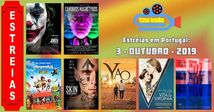 Estreias de filmes nos cinemas portugueses: 3 de outubro de 2019