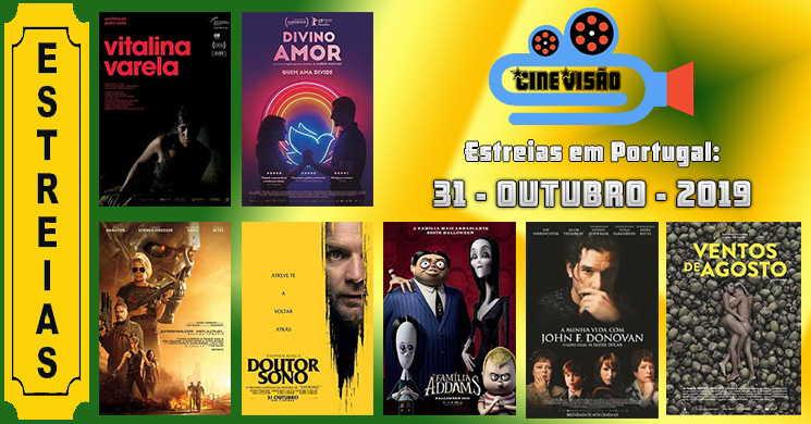 Estreias de filmes nos cinemas portugueses: 31 de outubro de 2019