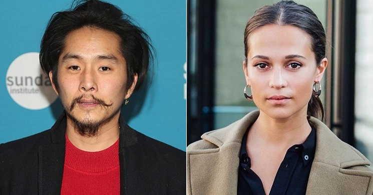 Justin Chon e Alicia Vikander no elenco do filme Blue Bayou