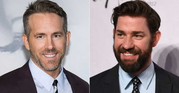 Ryan Reynolds e John Krasinski no filme Imaginary Friends