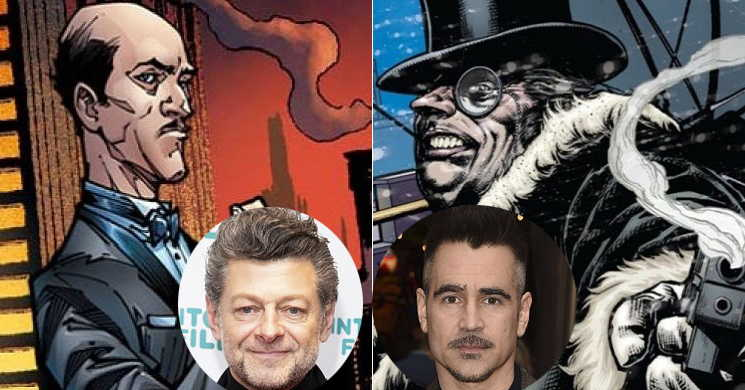 Andy Serkis e Colin Farrell no elenco do filme The Batman