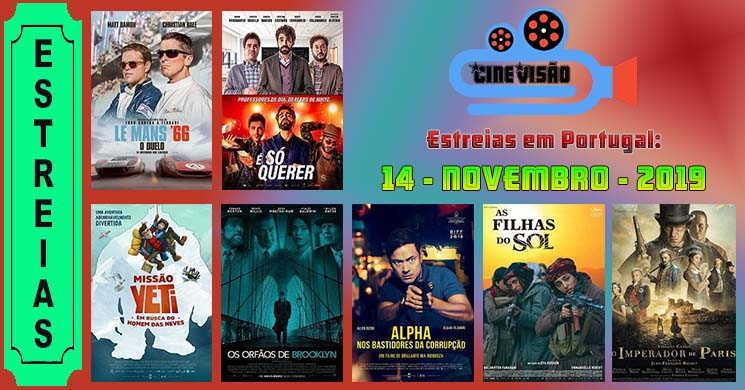 Estreias de filmes nos cinemas portugueses: 14 de novembro de 2019