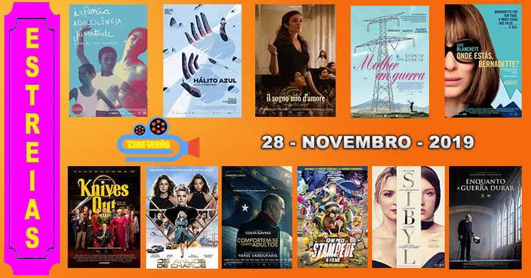 Estreias de filmes nos cinemas portugueses: 28 de novembro de 2019